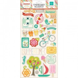 Summer Bliss Chipboard Accents