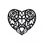 Sello cling Scroll Heart