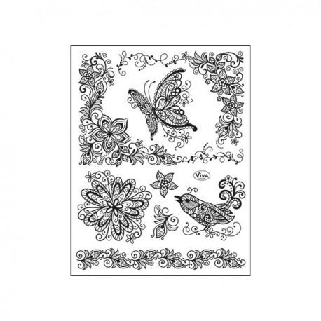 Surtido sellos Acril. Scribble