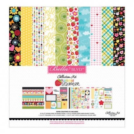 Kit de scrapbooking de temática veraniega y muy colorido Summer Squeeze de la marca Bella Blvd