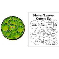 cortador set - Hojas y flores