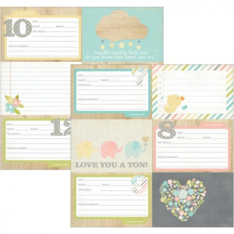 Hello Baby - Element 4X6 Horizontal Journaling Cards 2