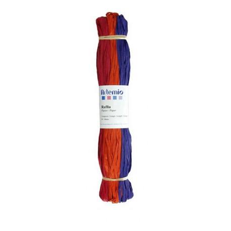Rafia 3x45m - Fucsia Naranja Ciruela