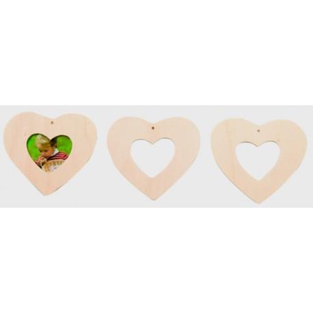 Silueta marco corazones para movil
