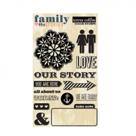 Family Stories Clear Stamps 4X6
