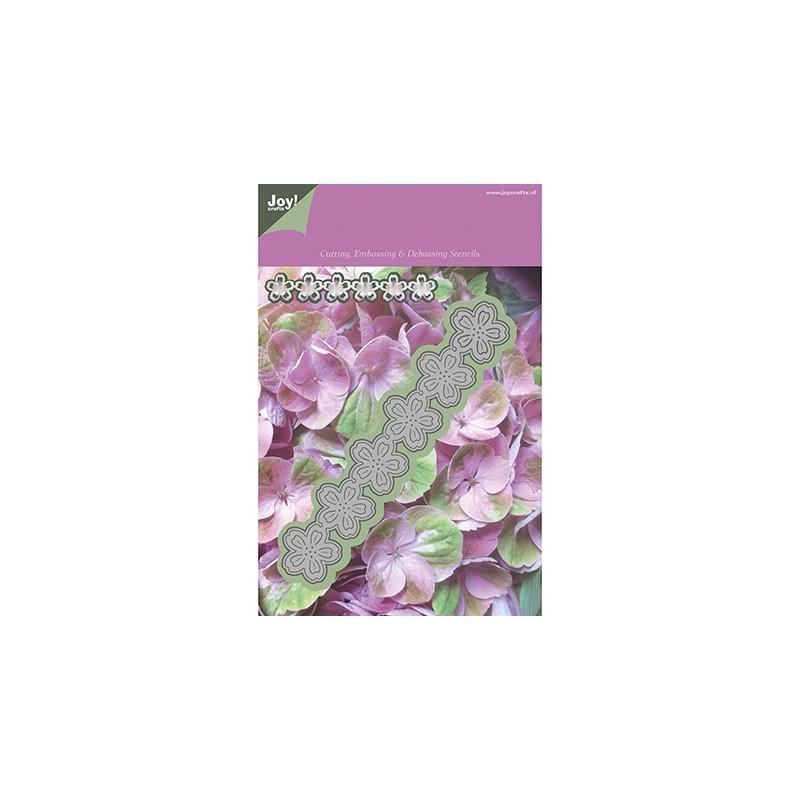 Troquel borde flores IV