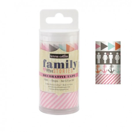 Family Stories Decorative Tape 4 Rolls