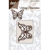 Troquel Vintage Flourishes Mariposa