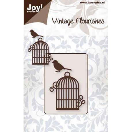 Troquel Vintage Flourishes Jaula y Pájaro