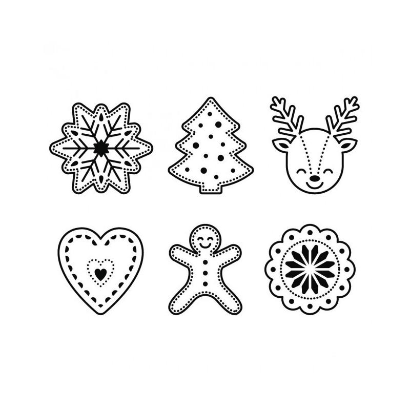 Set Sellos Acrilicos Iconos Navideños