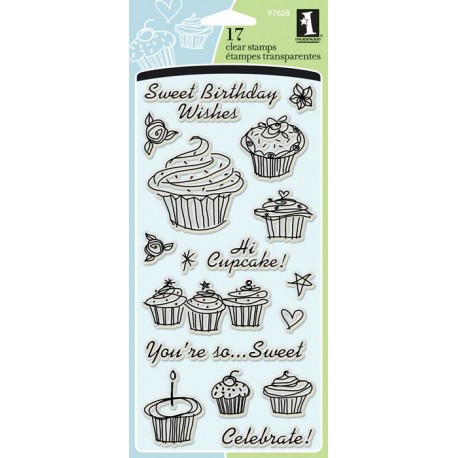 Clear Stamps 4X8 - Birthday Cupcake