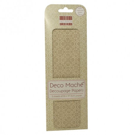 Papel decorado para la técnica del decoupage Deco Maché first Edition Ornate Flake