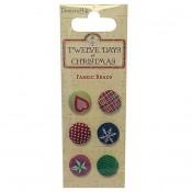 Twelve Days of Christmas Fabric brads