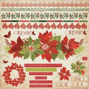 Christmas Carol Borders Stickers