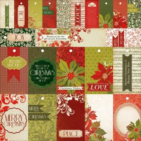 Christmas Carol Perforated Tags