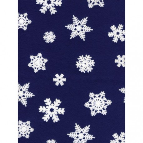 Fieltro Estampado - Copos fondo azul