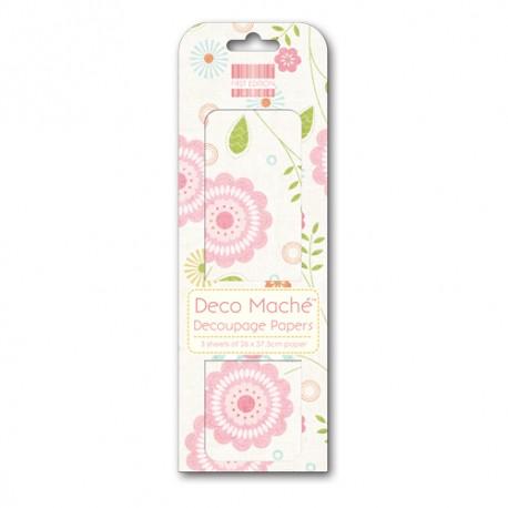Papel decorado para la técnica del decoupage Deco Maché first Edition Spring Bloom