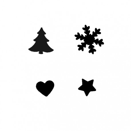 KIT 4 Troqueladoras Navidad
