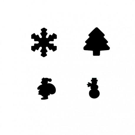 KIT 4 Troqueladoras Navidad 2