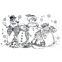 Sello PSX muñecos de nieve