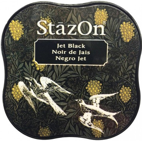 Tampón de tinta permanente StazOn Midi Jet Black de Tsukineko
