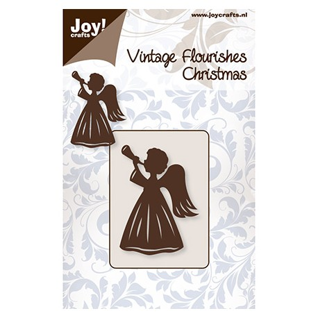 Troquel Vintage Flourishes Angel y Trompeta