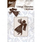 Troqueles Vintage Flourishes Angel y Harpa