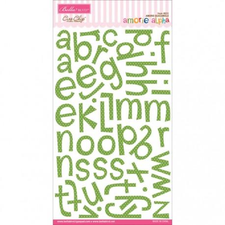 Amorie Chipboard Alphabet - Guacamole