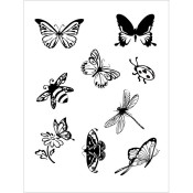 Clear Stamps Flying Friends