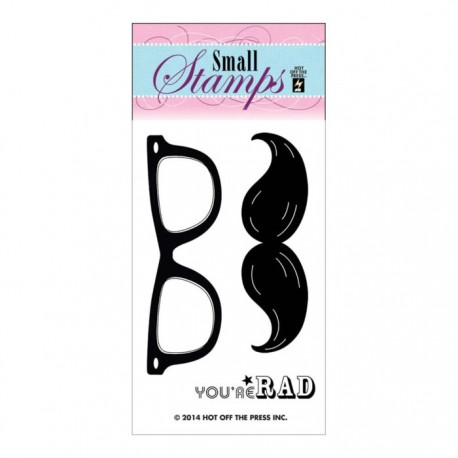 Mustache and Glasses Clear Stamp