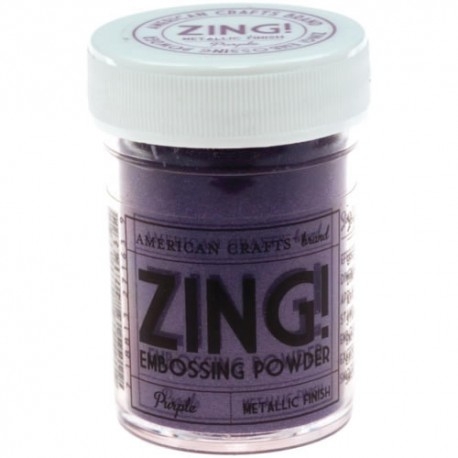 Zing Metallic Emboss - Purple