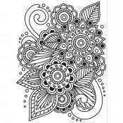 Embossing folder - Henna