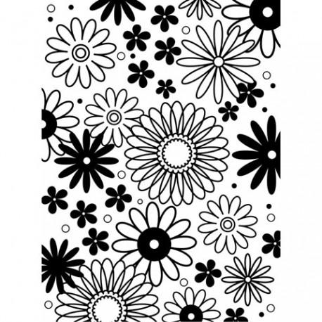 Embossing Folder - Flower Frenzy Background
