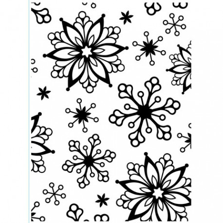 Embossing folder - Snowflakes Assorted