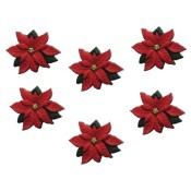 Poinsetias embellishment