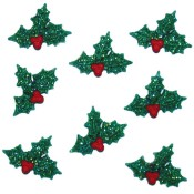 Glitter Holly embellishment