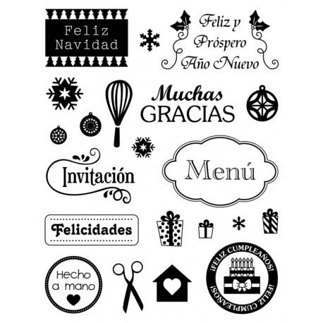 Artemio Sellos acrílicos transparentes Mensajes en Español (10001320)