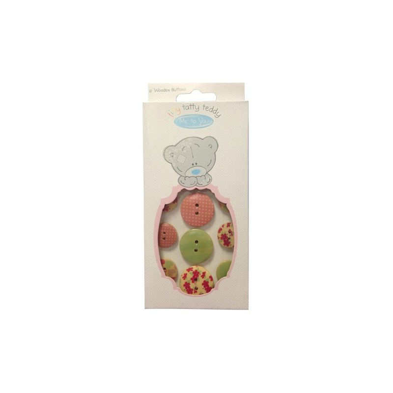 Tiny Tatty Teddy Girl Wooden buttons