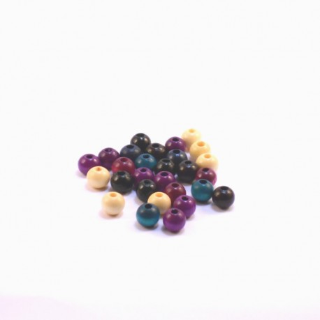 Round Wood Beads 6mm Fashion
