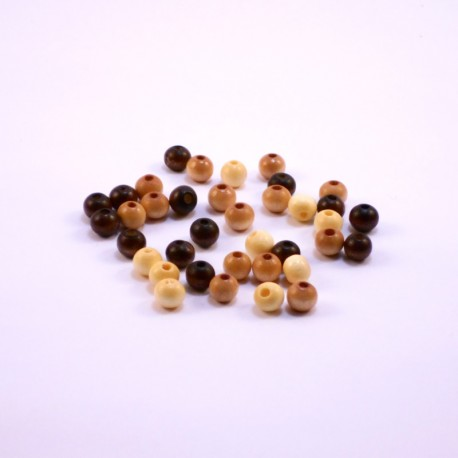 Round Wood Beads 8mm Earthtone