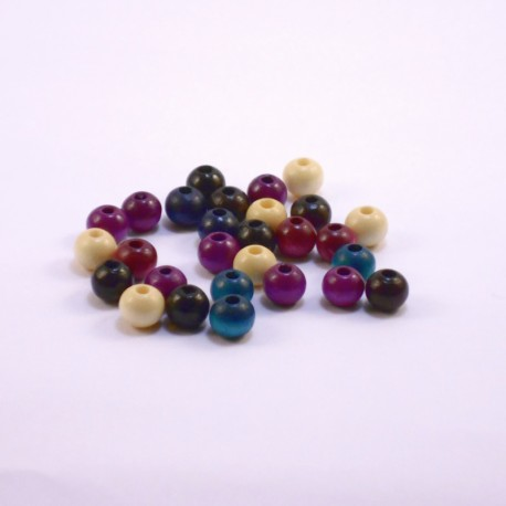 Round Wood Beads 8mm Fashion