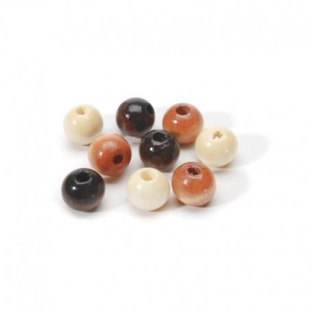 Round Wood Beads 12mm Earthtone
