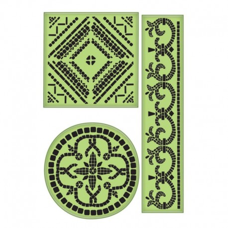 Large Mosaics - Cling Stamp