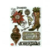 Sellos acrílicos Christmas Steampunk