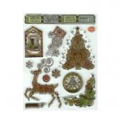 Sellos acrílicos Christmas Steampunk tree