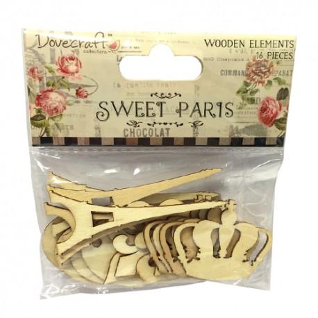 Troquelados de madera Sweet Paris