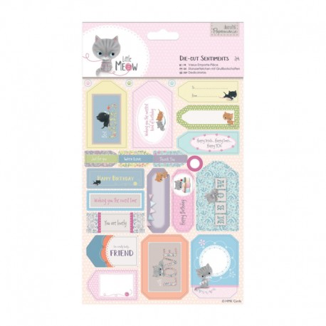 Die Cut sentiments - Little Meow