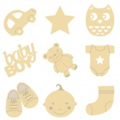 Mini siluetas de madera Baby boy
