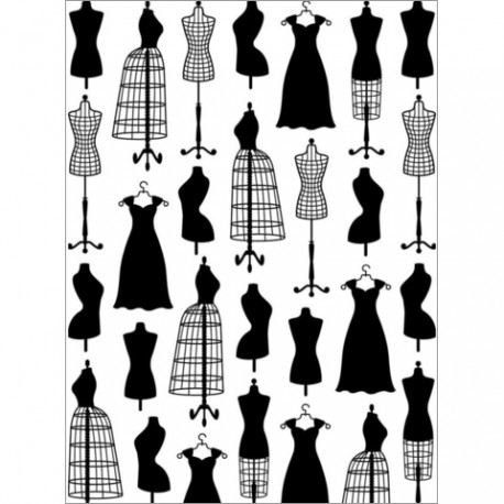 Embossing folder Darice - Dress Form Small