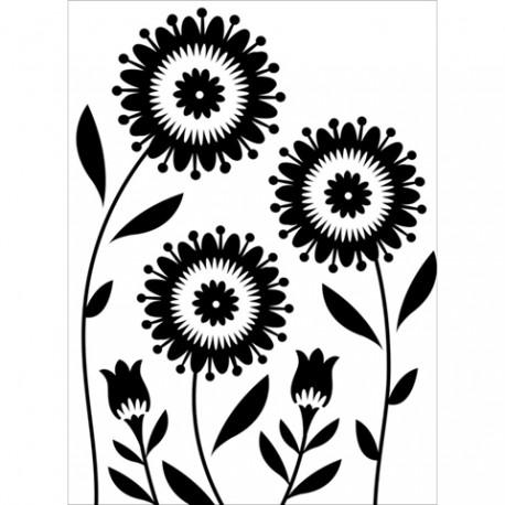 Embossing folder Darice - Floral Trio